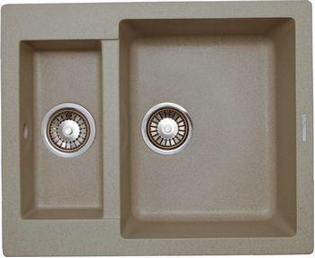 Кухонная мойка LAVA D.1 (SAHARA бежевый) кухонная мойка ukinox stm 800 600 20 6