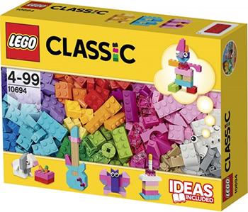 Конструктор Lego CLASSIC Дополнение к набору для творчества  пастельные цвета  10694