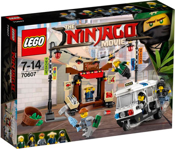 Конструктор Lego NINJAGO Ограбление киоска в НИНДЗЯГО Сити 70607-L lego друзей series 6 до 12 лет сердце лейк сити йогурт мороженое магазин 41320 lego детские строительные блоки игрушки