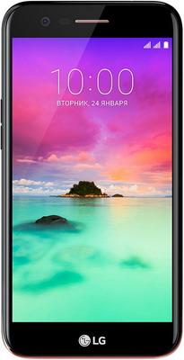Мобильный телефон LG K 10 2017 черный ultra thin pc hard back cover phone case for iphone 6 plus 6s plus