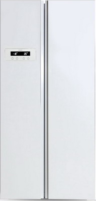 Холодильник Side by Side Ginzzu NFK-465 белый холодильник side by side samsung rs57k4000sa