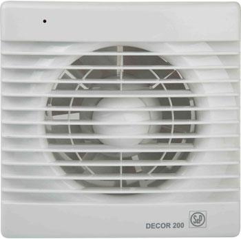 Купить Вытяжной вентилятор Soler amp Palau, D&#233 cor 200 CR с таймером (белый) 03-0103-009, Испания