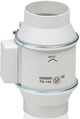 Канальный вентилятор Soler amp Palau Silent TD-160/100 NT (белый) 03-0101-204 вентилятор канальный solerpalau td 250 100 silent t