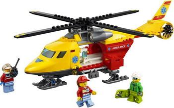 Конструктор Lego City Great Vehicles: Вертолёт скорой помощи 60179 автокресло cybex cbx aura fix 9 36 кг rumba red