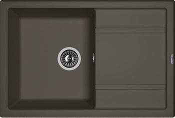Кухонная мойка Florentina Липси-760 760х510 антрацит FSm мойка кухонная florentina липси 760 760х510 черный fg 20 160 d0760 102