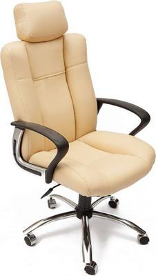 Кресло Tetchair Oxford хром (кож/зам бежевый бежевый перфор. PU 36-34/PU 36-34/06) ladies pu leather wallets zipper