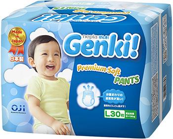 Трусики-подгузники Genki L 9-14 кг/30 шт. 54264
