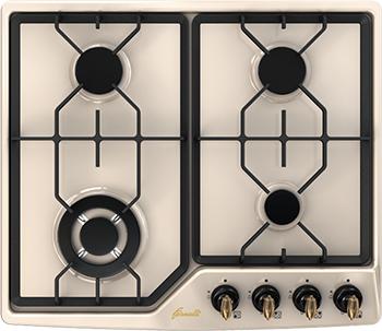 Встраиваемая газовая варочная панель FORNELLI PGA 60 GRAZIA IVORY бордюр grazia vintage bordura ivory 3 5x20