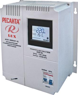 Стабилизатор напряжения Ресанта АСН- 3 000Н/1-Ц стабилизаторы напряжения ресанта стабилизатор асн 8 000 1 ц ресанта