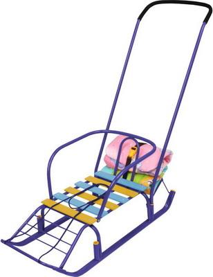Санки Nika Kids Тимка 7 с багажником синие санки коляска nika умка 3 1 у 3 1 вязаный бирюза