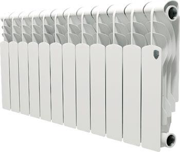 Водяной радиатор отопления Royal Thermo Revolution Bimetall 350 - 12 секц. royal thermo биметаллический revolution bimetall 500 8 секций