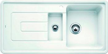 Кухонная мойка BLANCO TOLON 6S керамика глянцевый белый кухонная мойка ukinox stm 800 600 20 6
