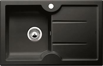 Кухонная мойка BLANCO IDESSA 45 S (чаша слева) КЕРАМИКА черный мойка idessa 45 s matte white left 514487 blanco