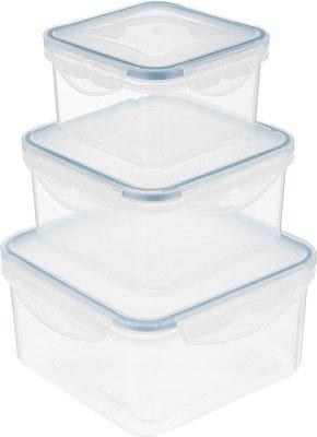 Набор контейнеров Tescoma FRESHBOX 3 шт 1.2 2.0 3.0 л квадратный 892042 набор котелков ecos camp s1 походных 1 л 2 л 3 л