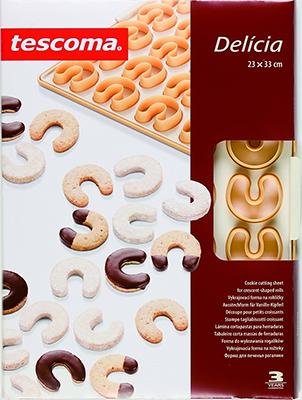 Форма для печенья рогалики Tescoma DELICIA 630890 противень для выпечки tescoma delicia 46 x 30см 623014