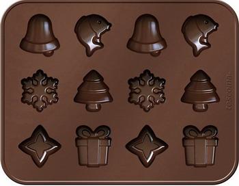 Формочки для шоколада Tescoma DELICIA SILICONE рождественские мотивы 629372 противень для выпечки tescoma delicia 46 x 30см 623014