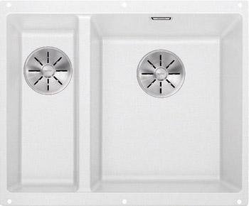 Кухонная мойка BLANCO SUBLINE 340/160-U SILGRANIT белый (чаша справа) с отв.арм. InFino 523562 кухонная мойка blanco subline 340 160 u silgranit жемчужный чаша слева с отв арм infino 523551