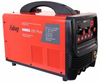 Сварочный аппарат FUBAG INMIG 200 PLUS (38093) + маска сварщика Fubag Optima 9-13 сварочный инвертор fubag iq 200