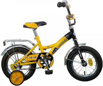 Велосипед Novatrack 12 FR-10 жёлтый 123 FR 10.YL5 велосипед novatrack fr 10 20 077377 фиолетовый