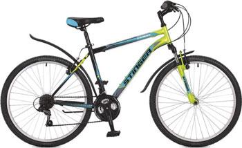 Велосипед Stinger 26'' Caiman 16'' зеленый 26 SHV.CAIMAN.16 GN7 велосипед навигатор patriot цвет зеленый navigator