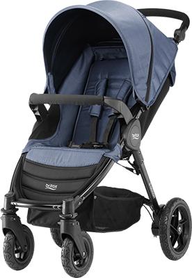 Коляска Britax Roemer B-Motion 4 Blue Denim с накидкой на ножки 2000025709 коляска britax roemer b motion 4 black denim с накидкой на ножки 2000025708