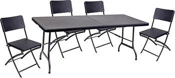 Комплект мебели GoGarden RIMINI складной (стол и 4 стула) 50360