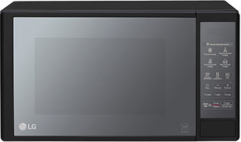 Микроволновая печь - СВЧ LG MS 2042 DARB черная микроволновая печь hotpoint ariston mwha 2422 ms mwha 2422 ms