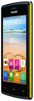 Мобильный телефон Philips S 307 черный/желтый мобильный телефон philips e116 черный