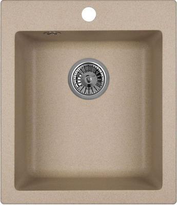 Кухонная мойка Weissgauff QUADRO 420 Eco Granit бежевый  weissgauff quadro 420 eco granit графит