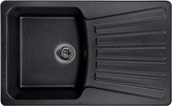 Кухонная мойка Weissgauff CLASSIC 800 Eco Granit черный  weissgauff classic 800 eco granit серый шёлк