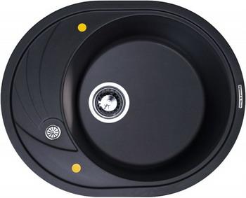 Кухонная мойка Zigmund amp Shtain KREIS OV 575 черный базальт мойка круглая стандарт d480х190мм черный гранит