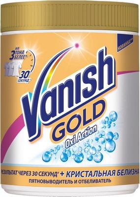 Пятновыводитель VANISH GOLD OXI Action Кристальная белизна + отбеливатель 1 кг vanish oxi action кристальная белизна пятновыводитель отбеливатель для тканей жидкий 2 л