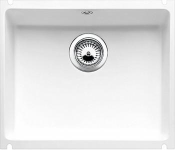 Кухонная мойка BLANCO SUBLINE 500-U КЕРАМИКА глянцевый белый PuraPlus  blanco subline 500 u чёрный
