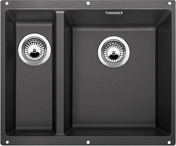 Кухонная мойка BLANCO SUBLINE 340/160-U SILGRANIT антрацит (чаша справа)  цена и фото