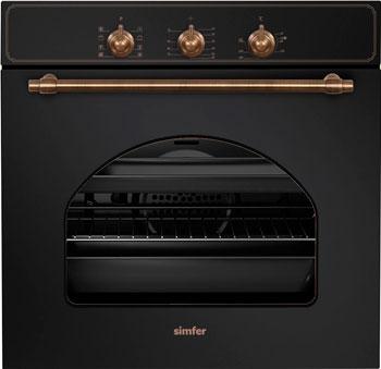 Встраиваемый электрический духовой шкаф Simfer B6EL 18011 встраиваемый электрический духовой шкаф smeg sf 4120 mcn