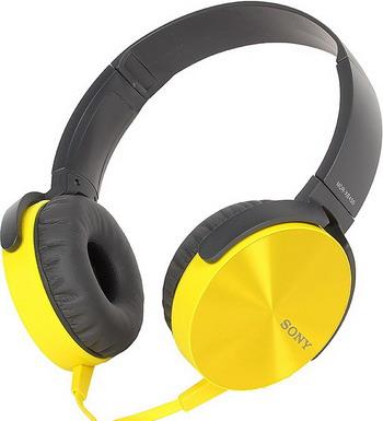 Наушники Sony MDR-XB 450 APY желтый наушники mdr 100abn цвет лимонно желтый