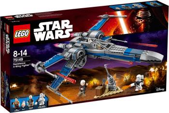 Конструктор Lego STAR WARS ИСТРЕБИТЕЛЬ СОПРОТИВЛЕНИЯ ТИПА ИКС конструктор lego star wars военный транспорт сопротивления 75140