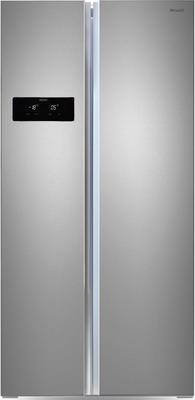 Холодильник Side by Side Ginzzu NFK-465 стальной холодильник side by side samsung rs552nrua1j