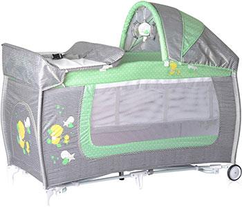 Манеж-кровать Lorelli Danny 2 Rocker Серо-зеленый Grey&Green Za  1818 10080371818