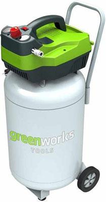 Компрессор Greenworks 50л GAC 50 V 4101907 компрессор fiac ab 50 360 a 2200вт 360л мин 10бар 50л