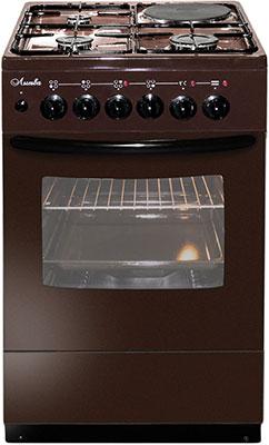 Комбинированная плита Лысьва ЭГ 1/3г01 М2С-2у коричневая без крышки цена