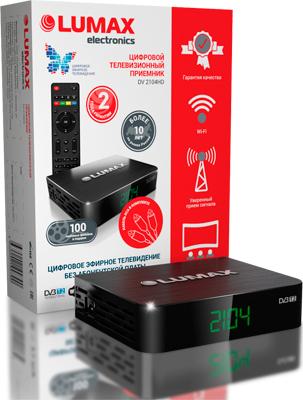 Цифровой телевизионный ресивер Lumax DV 2104 HD цифровой телевизионный ресивер lumax dv 3209 hd