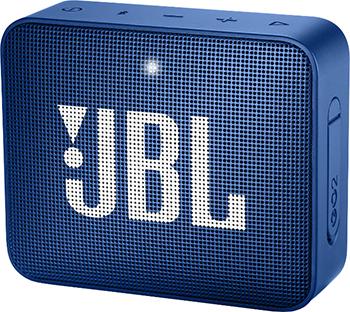 Портативная акустическая система JBL GO2 синий JBLGO2BLU акустическая система jbl charge 3 синий jblcharge3blueeu
