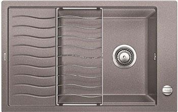 Кухонная мойка BLANCO ELON XL 6S SILGRANIT жемчужный с клапаном-автоматом мойка кухонная blanco elon xl 6 s шампань с клапаном автоматом 518741