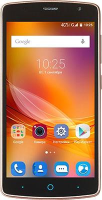 Мобильный телефон ZTE Blade L5 plus золотой мобильный телефон zte blade r550 black blue