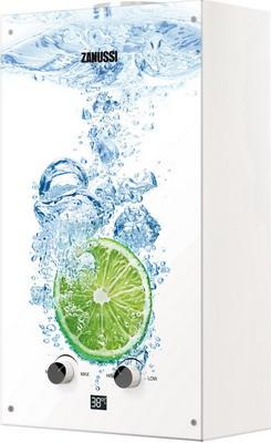 Газовый водонагреватель Zanussi GWH 10 Fonte Glass Lime водонагреватель газовый zanussi gwh 10 fonte
