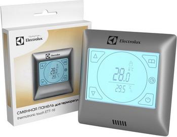 Сменная панель для терморегулятора Electrolux ETT-16 серебристая терморегулятор electrolux ett 16