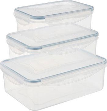 Набор контейнеров Tescoma FRESHBOX 3 шт 1.0 1.5 2.5 л прямоугольный 892092 набор контейнеров idea квадратные цвет салатовый 0 5 л 3 шт
