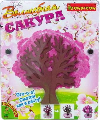 Набор для выращивания кристаллов Bondibon Волшебная Сакура ВВ1307 волшебная страна 6шт 001475