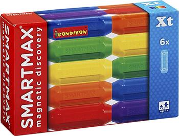 Конструктор Bondibon Магнитный конструктор SmartMax Дополнительный (Xt) набор: 6 коротких палочек ВВ0873 bondibon конструктор магнитный smartmax светящийся ларри цвет желтый